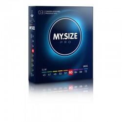 Prezerwatywy na wymiar MY.SIZE Pro 60 mm 3 sztuki