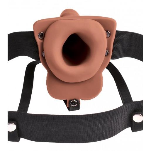 Puste dildo Strap-on Hollow z wibracjami Pipedream
