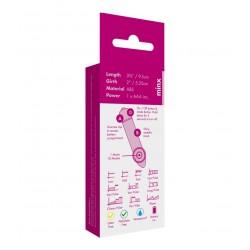 Srebrny mini wibrator dla kobiet Minx Blossom