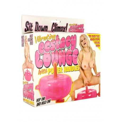 Extasy Lounge Vibrating różowe siedzisko z wibratorem