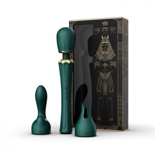 Zalo Kyro zielony masażer łechtaczki z nakładkami