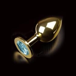 Korek analny z niebieskim kryształem Dolce Piccante rozmiar L
