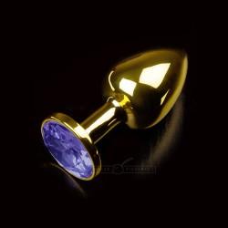 Korek analny z niebieskim kryształem Dolce Piccante rozmiar S