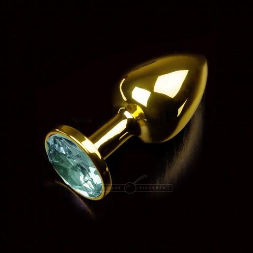 Korek analny z zielonym kryształem Dolce Piccante rozmiar S