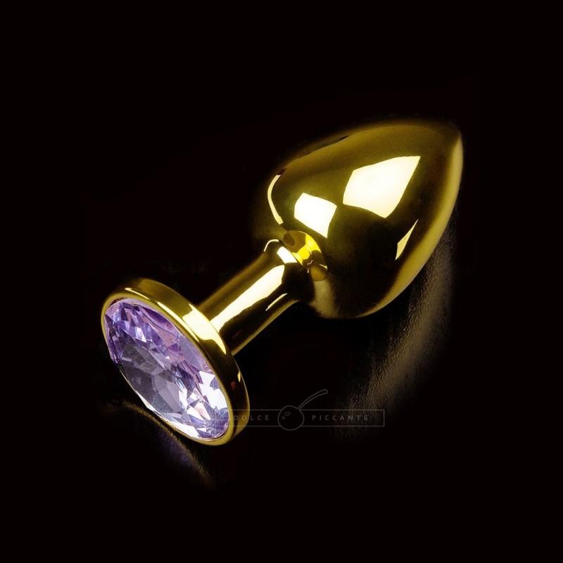 Korek analny z fioletowym kryształem Dolce Piccante rozmiar S