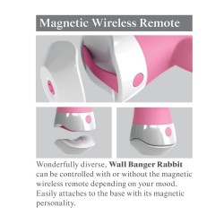 Wibrator z przyssawką wall banger rabbit 3Some