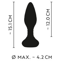 Korek analny z wibracjami sterowany pilotem Anos 15cm
