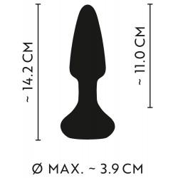 Korek analny z wibracjami sterowany pilotem Anos 14cm