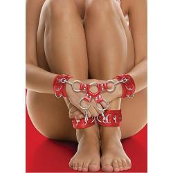 Czerwony krzyżak BDSM ze skóry OUCH