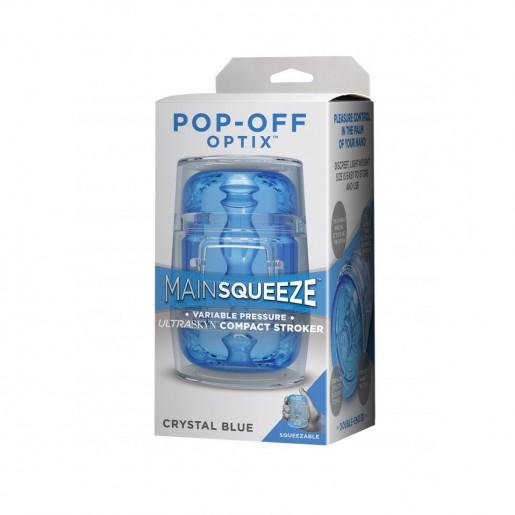 Masturbator analny Doc Johnson Optix Pop-Off niebieski