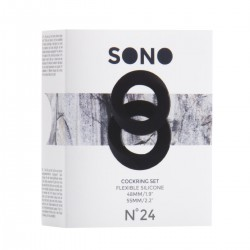 Zestaw czarnych pierścieni erekcyjnych Sono NO24