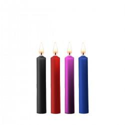 Zestaw 4 świec parafinowych mix kolorów OUCH