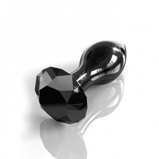 Korek analny szklany Icicles nr 78, czarny