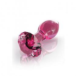Korek analny szklany Icicles nr 79, różowy