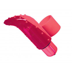 PowerBullet czerwony wibrator na palec Frisky Finger