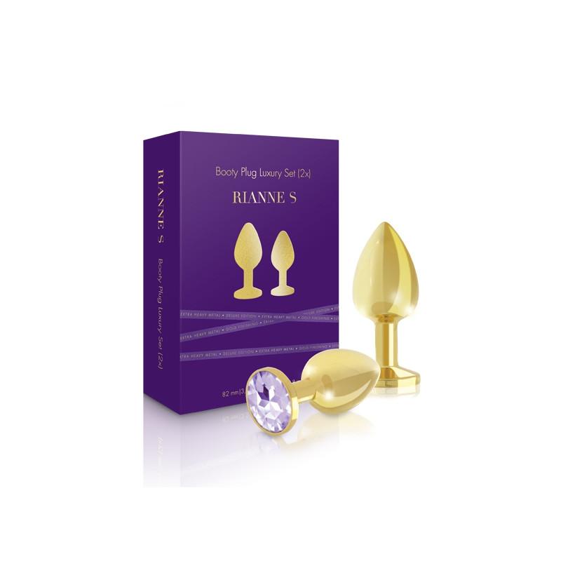 Zestaw 2 złotych korków analnych Rianne S Booty Plug Luxury Set