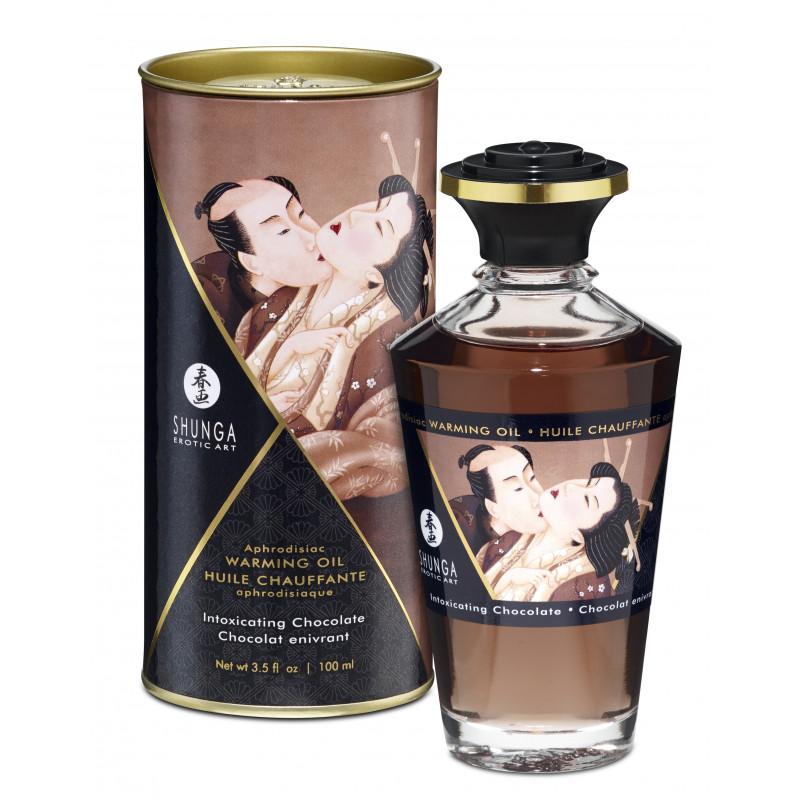 Jadalny olejek do masażu erotycznego czekoladowy Shunga 100 ml