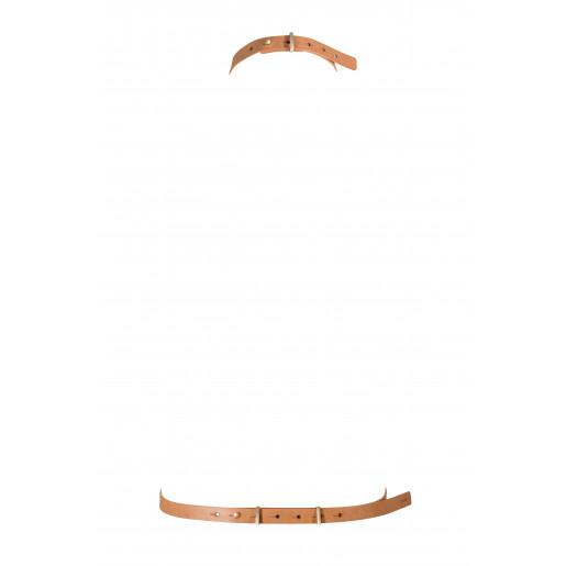 Uprząż w kształcie litery I Bijoux Indiscrets MAZE brązowa