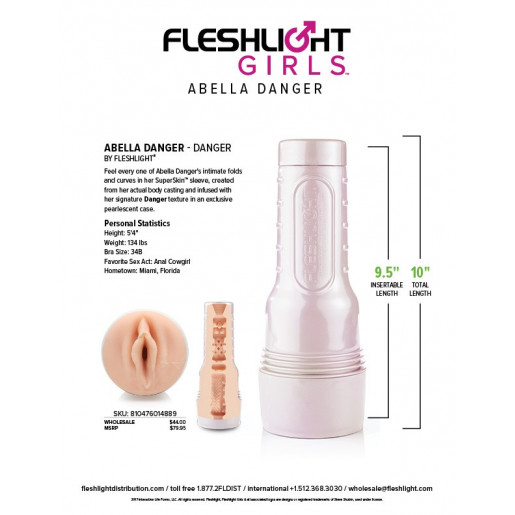 Masturbator pochwa Fleshlight Girls Abella Danger