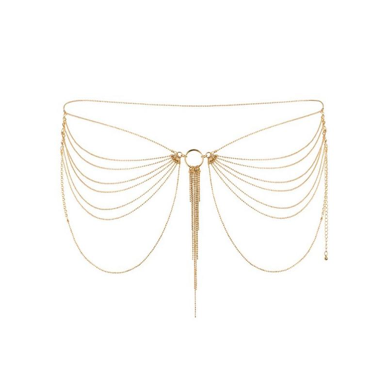 Złoty łańcuszek na biodra Bijoux Indiscrets Magnifique