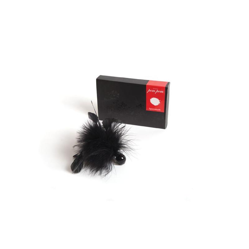 Czarne piórko do łaskotania Bijoux Indiscrets Pom Pom