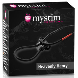 Pętla na penisa z elektrostymulacją Mystim Heavenly Henry