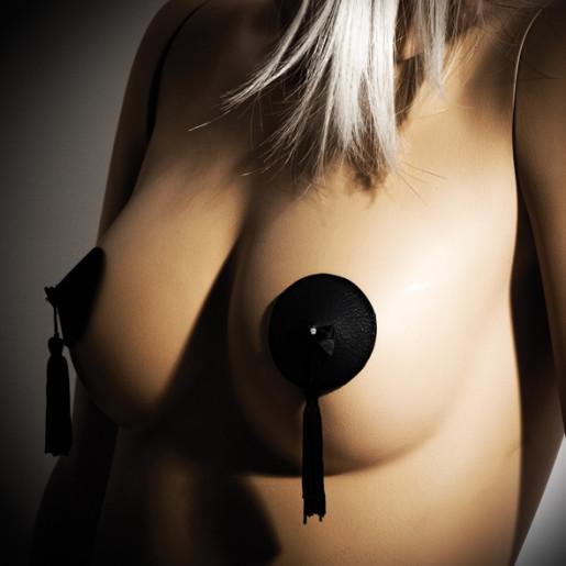 Nakładki na sutki Bijoux Indiscrets Burlesque Pasties czarne