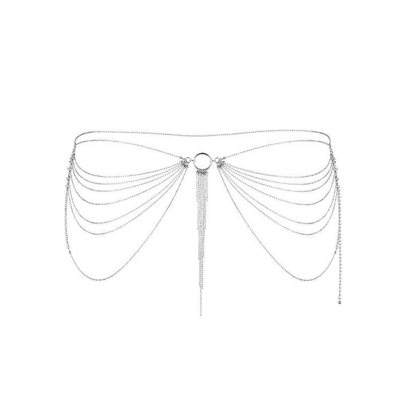 Srebrny łańcuszek na biodra Bijoux Indiscrets Magnifique
