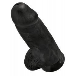 Czarne dildo z jądrami King Cock Chubby 23cm
