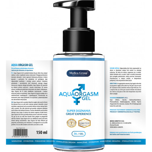 Żel orgazmowy Aqua Orgasm Gel 150 ml