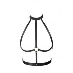Czarna uprząż w kształcie H Bijoux Indiscrets MAZE