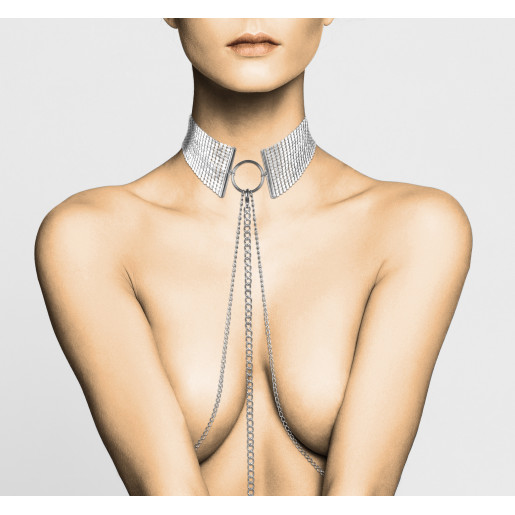 Srebrna obroża Bijoux Indiscrets Désir Métallique Collar