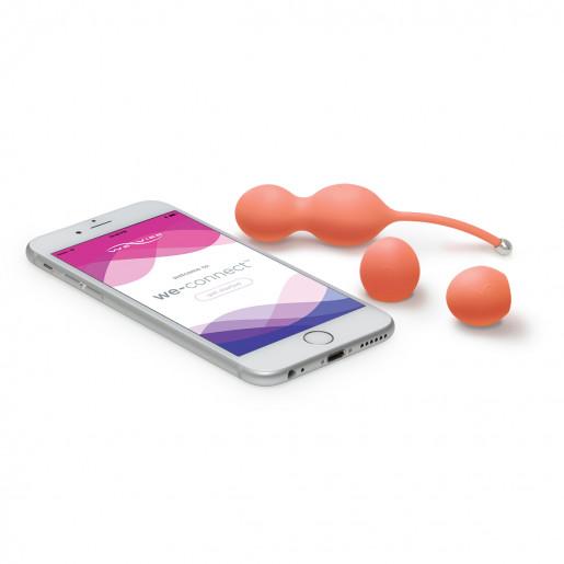 Wibrujące jajko sterowane aplikacją We-Vibe Bloom koralowe