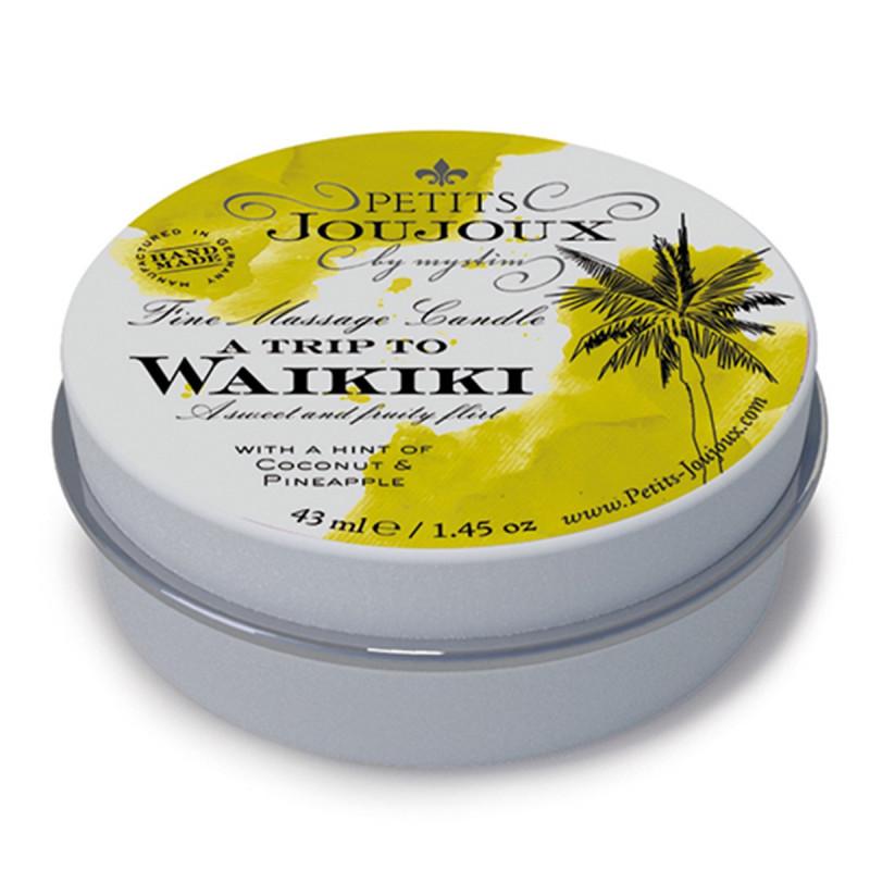 Świeca do masażu Petits Joujoux plaża Waikiki - kokos i ananas