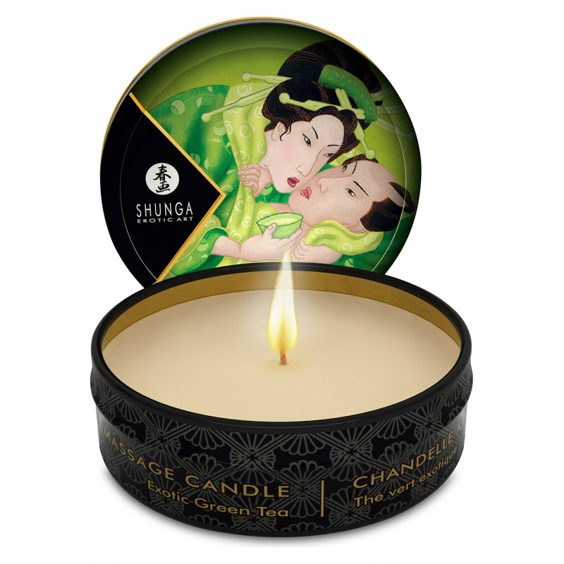 Zapachowa świeca do masażu zielona herbata Shunga 30 ml