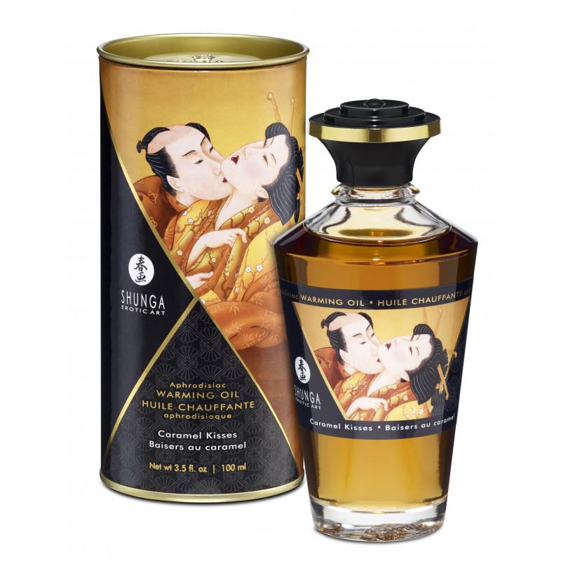 Jadalny olejek do masażu erotycznego karmelowy Shunga 100 ml