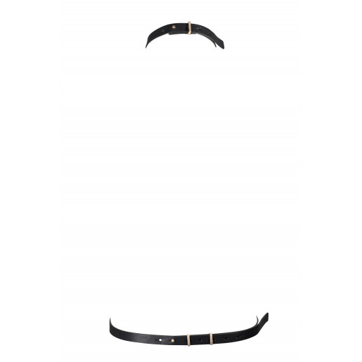 Uprząż w kształcie litery I Bijoux Indiscrets MAZE czarna