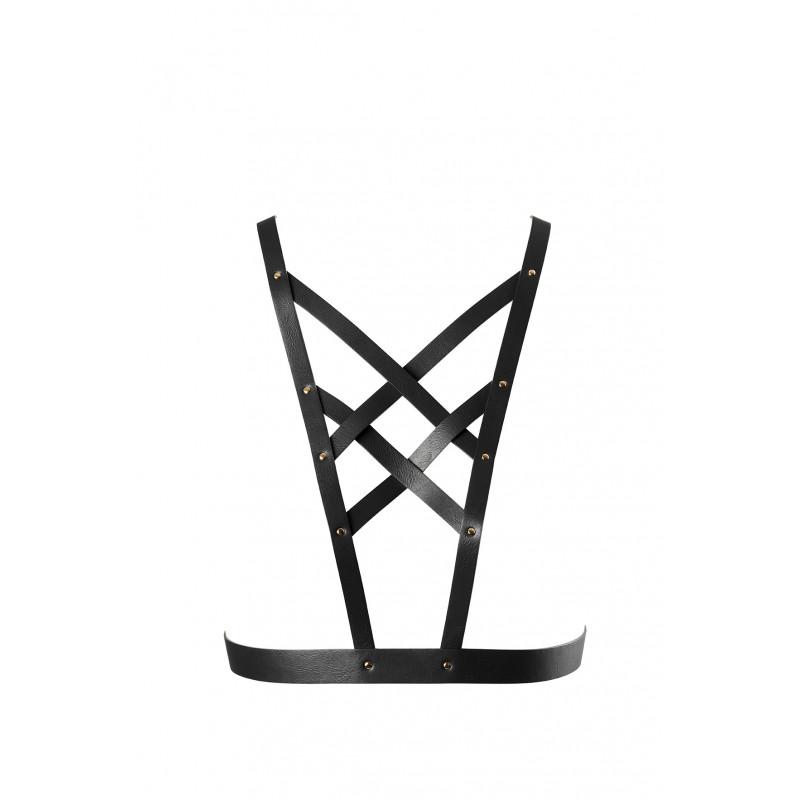 Uprząż na klatkę piersiową Bijoux Indiscrets MAZE czarna