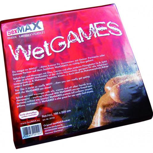 Czerwone winylowe prześcieradło JoyDivision SexMAX 180 x 220