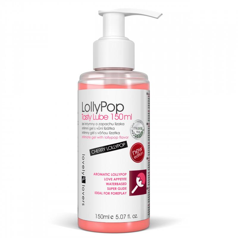 Lubrykant o zapachu wiśniowego lizaka Lovely Lovers LollyPop 150 ml