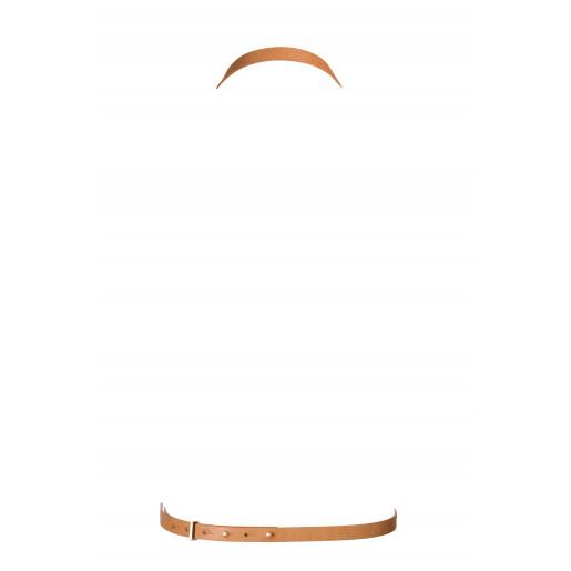 Bijoux Indiscrets MAZE brązowa uprząż w kształcie ósemki