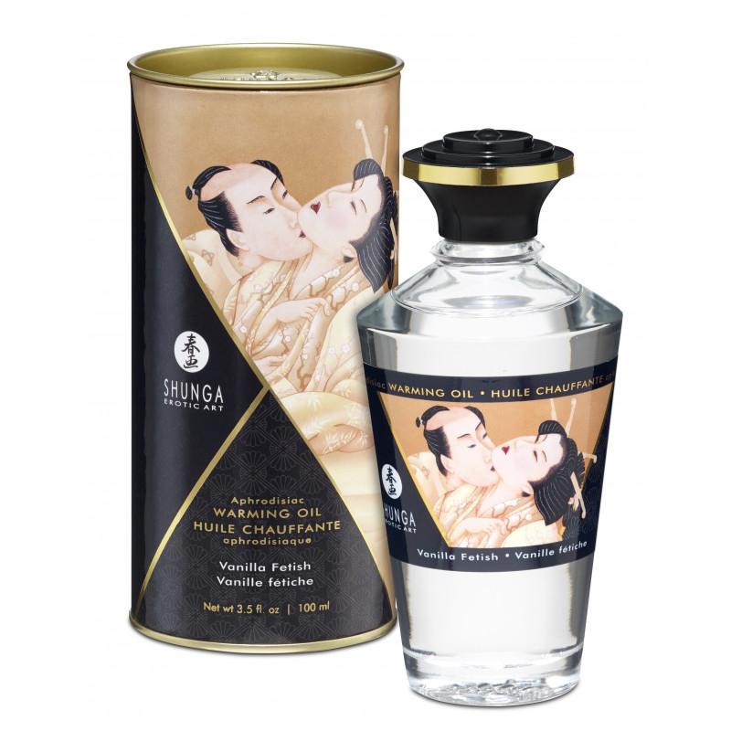 Jadalny olejek do masażu erotycznego waniliowy Shunga 100 ml