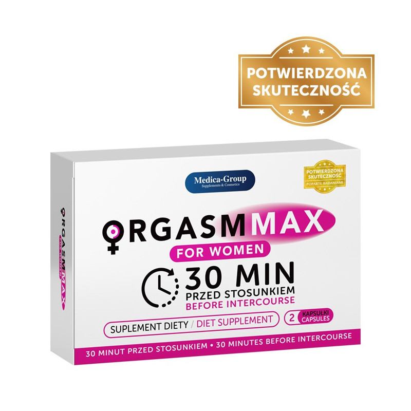 Tabletki na potencję dla kobiet Orgasm Max 2 kapsułki