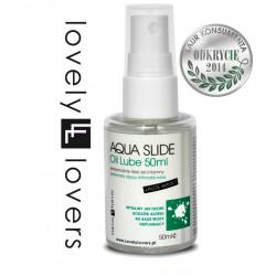 Nawilżający olejek intymny z aloesem Lovely Lovers Aqua Slide Oil 50 ml