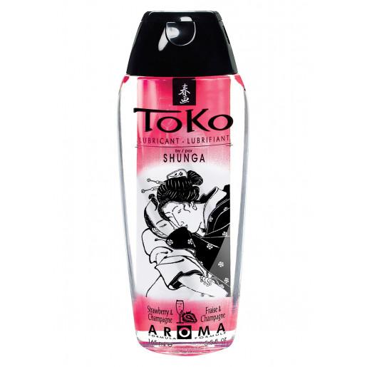 Lubrykant o zapachu truskawki Shunga Toko 165 ml