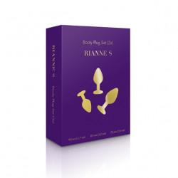 Zestaw 3 fioletowych korków analnych Rianne S Booty Plug Set