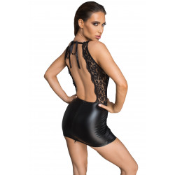 Sukienka z wetlooku z odsłoniętymi plecami M Noir Handmade