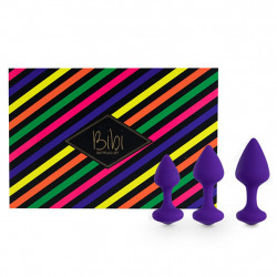 Korki analne - FeelzToys Bibi Butt Plug Set 3 szt Purple