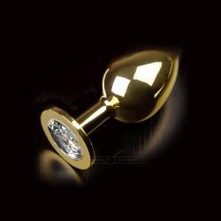 Korek analny Dolce Piccante metalowy L złoty